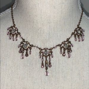 Jewelry - Bronze and lavender necklace